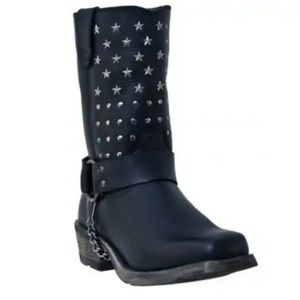 Dingo Leather Moto Boot